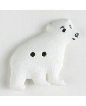 Kinderknopf in Form eines Eisbären - Größe: 32mm - Farbe: weiß - Art.Nr. 370327