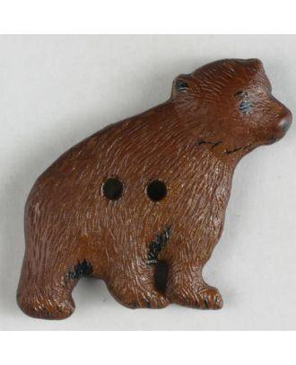 Kinderknopf in Form eines Braunbären - Größe: 32mm - Farbe: braun - Art.Nr. 370328