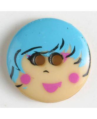 Kinderknopf - Größe: 18mm - Farbe: blau - Art.-Nr.: 261147
