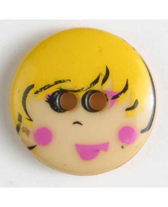 Kinderknopf - Größe: 18mm - Farbe: gelb - Art.-Nr.: 261148