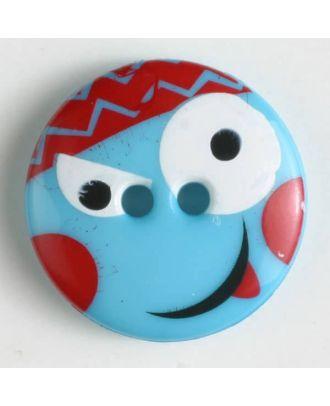 Kinderknopf - Größe: 18mm - Farbe: blau - Art.-Nr.: 261149