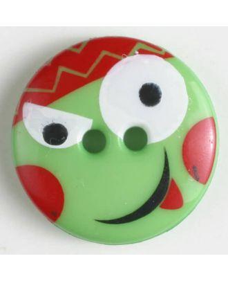 Kinderknopf - Größe: 13mm - Farbe: grün - Art.-Nr.: 221806