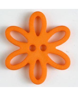 Polyamidknopf - Größe: 20mm - Farbe: orange - Art.-Nr.: 281009
