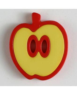 Apfelknopf 2-loch - Größe: 25mm - Farbe: gelb - Art.Nr. 330777