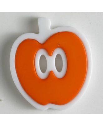 Apfelknopf 2-loch - Größe: 25mm - Farbe: orange - Art.Nr. 330779