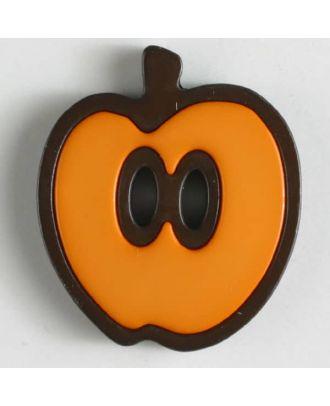 Apfelknopf 2-loch - Größe: 25mm - Farbe: orange - Art.Nr. 330778
