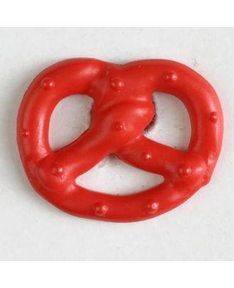 Brezenknopf mit Öse - Größe: 20mm - Farbe: rot - Art.Nr. 281025