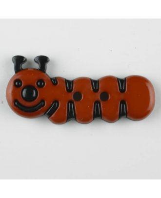 Kinderknopf grinsende Raupe -Größe: 30mm - Farbe: braun - Art.Nr. 341116