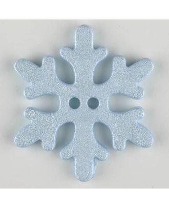 Kinderknopf wunderschöne Schneeflocke - Größe: 34mm - Farbe: blau - Art.Nr. 371139