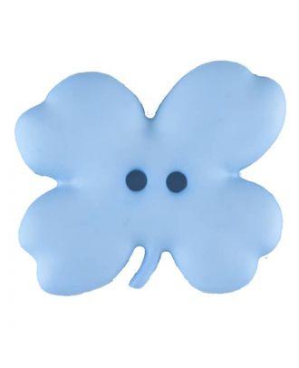 Kinderknopf vierblättriges Kleeblatt -Größe: 23mm - Farbe: blau - Art.Nr. 310949