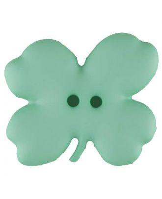 Kinderknopf vierblättriges Kleeblatt -Größe: 23mm - Farbe: grün - Art.Nr. 310950