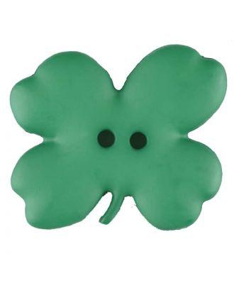 Kinderknopf vierblättriges Kleeblatt -Größe: 23mm - Farbe: grün - Art.Nr. 310951