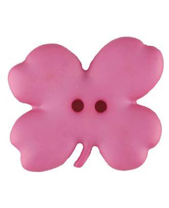 Kinderknopf vierblättriges Kleeblatt - Größe: 23mm - Farbe: pink - Art.Nr. 310952