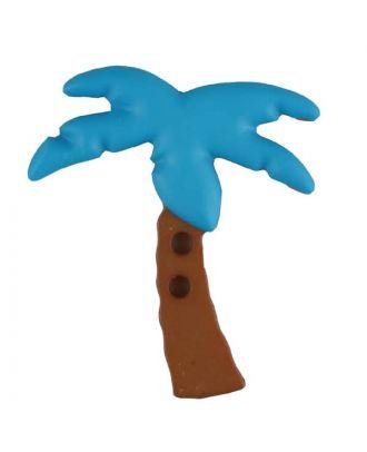Zweiteiliger Kinderknopf Kokospalme - Größe: 25mm - Farbe: blau - Art.Nr. 331084