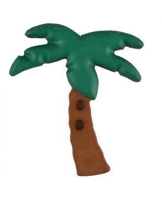 Zweiteiliger Kinderknopf Kokospalme - Größe: 25mm - Farbe: grün - Art.Nr. 331083