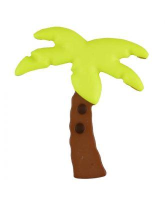 Zweiteiliger Kinderknopf Kokospalme - Größe: 25mm - Farbe: gelb - Art.Nr. 331086