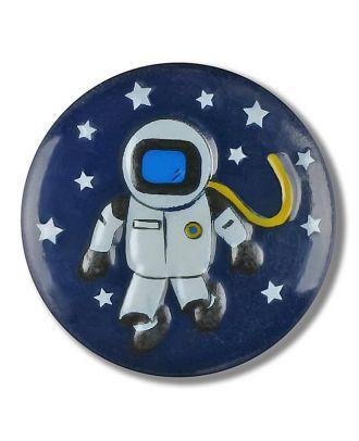 Astronaut im Sternenhimmel mit Öse - Größe: 18mm - Farbe: marine - Art.Nr. 281123