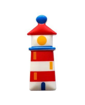 fröhlicher Leuchtturmknopf mit Öse - Größe: 30mm - Farbe: weiß - Art.Nr. 341283