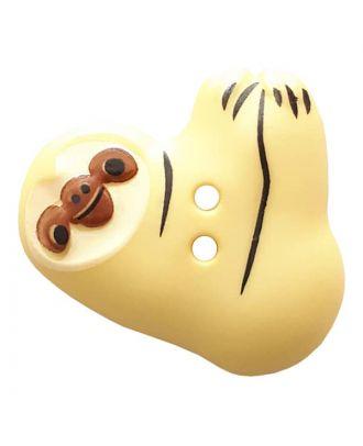 Faultier mit zwei Knopflöchern - Größe: 25mm - Farbe: yellow - Art.Nr. 341305