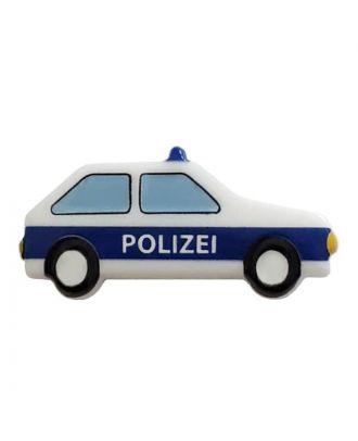 Polizeiauto mit Öse - Größe: 25mm - Farbe: white - Art.Nr. 341312