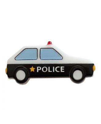 Polizeiauto mit Öse - Größe: 25mm - Farbe: white - Art.Nr. 341313