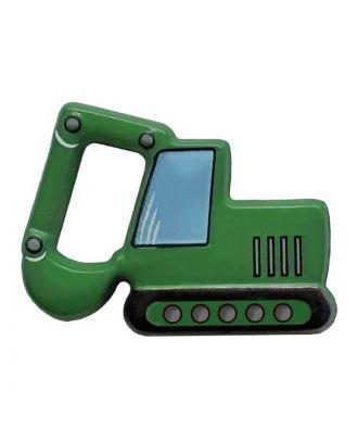 Bagger mit Öse - Größe: 28mm - Farbe: green - Art.Nr. 341309