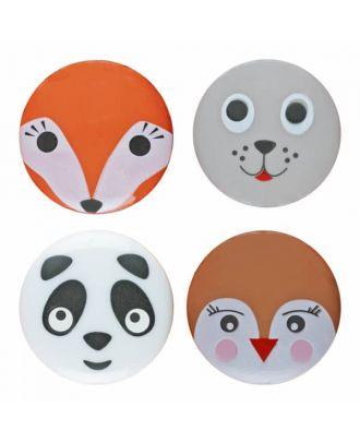 Gemischt, Panda, Vogel, Seehund, Fuchs Polyamid mit Öse - Größe: 18mm - Farbe: M - Art.Nr. 281164