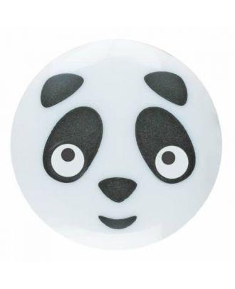 Pandaknopf Polyamid mit Öse - Größe: 15mm - Farbe: weiß - Art.Nr. 261348
