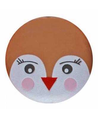 Vogelknopf Polyamid mit Öse - Größe: 18mm - Farbe: braun - Art.Nr. 281161