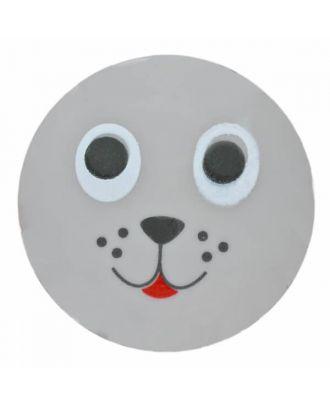 Seehundknopf Polyamidmit Öse - Größe: 15mm - Farbe: grau - Art.Nr. 261350