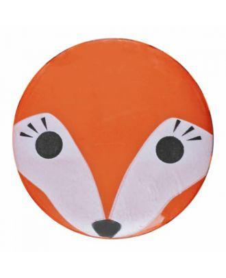 Fuchsknopf Polyamid mit Öse - Größe: 15mm - Farbe: orange - Art.Nr. 261351