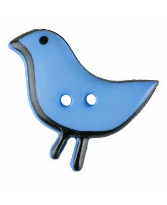 Vogelknopf Polyamid mit zwei Löchern - Größe: 20mm - Farbe: blau - Art.Nr. 311056