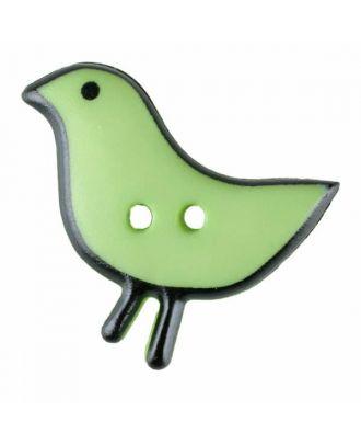 Vogelknopf Polyamid mit zwei Löchern - Größe: 20mm - Farbe: grün - Art.Nr. 311058