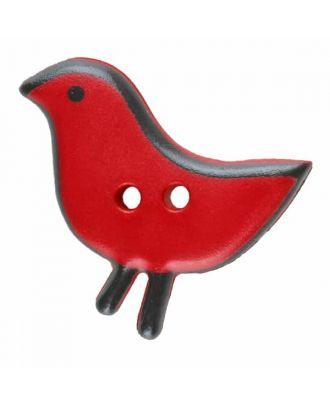 Vogelknopf Polyamid mit zwei Löchern - Größe: 20mm - Farbe: rot - Art.Nr. 311060