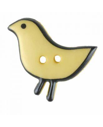 Vogelknopf Polyamid mit zwei Löchern - Größe: 20mm - Farbe: gelb - Art.Nr. 311061