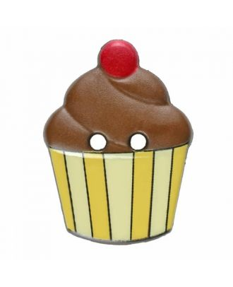 Cupcake Polyamid mit zwei Löchern - Größe: 20mm - Farbe: braun - Art.Nr. 311070
