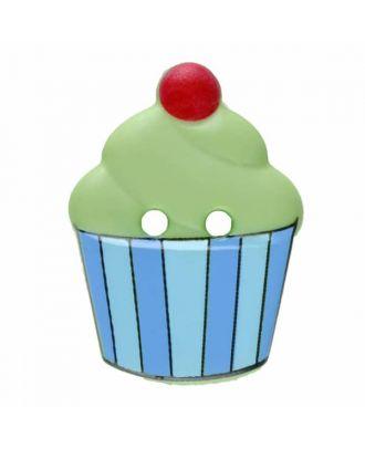 Cupcake Polyamid mit zwei Löchern - Größe: 20mm - Farbe: grün - Art.Nr. 311062