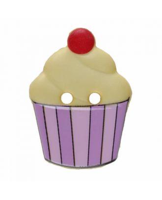 Cupcake Polyamid mit zwei Löchern - Größe: 20mm - Farbe: gelb - Art.Nr. 311064