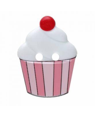 Cupcake Polyamid mit zwei Löchern - Größe: 20mm - Farbe: weiß - Art.Nr. 311069
