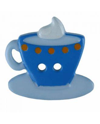 Kaffee oder Tee Polyamid mit zwei Löchern - Größe: 20mm - Farbe: blau - Art.Nr. 311077