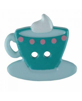 Kaffee oder Tee Polyamid mit zwei Löchern - Größe: 20mm - Farbe: grün - Art.Nr. 311078