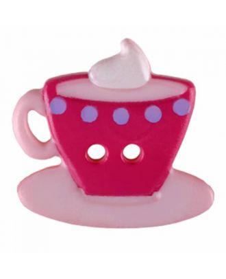 Kaffee oder Tee Polyamid mit zwei Löchern - Größe: 20mm - Farbe: rosa - Art.Nr. 311079