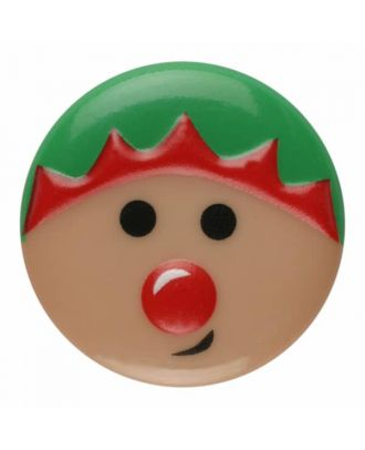 Weihnachtsknopf Elfe Polyamid mit Öse - Größe: 15mm - Farbe: rosa - Art.Nr. 261360