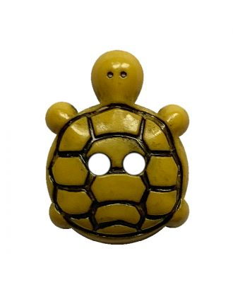 Kinderknopf Schildkröte Polyamid mit 2 Löchern - Größe:  18mm - Farbe: gelb - ArtNr.: 311129