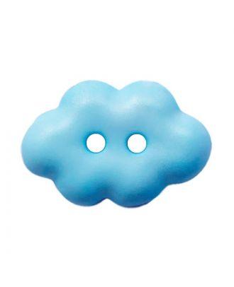 "Kinderknopf ""Wolke"" Polyamid mit 2 Löchern - Größe:  15mm - Farbe: hellblau - ArtNr.: 261457"