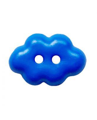"""Kinderknopf """"Wolke"""" Polyamid mit 2 Löchern - Größe:  15mm - Farbe: blau - ArtNr.: 261458"""