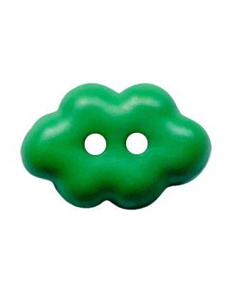 "Kinderknopf ""Wolke"" Polyamid mit 2 Löchern - Größe:  15mm - Farbe: grün - ArtNr.: 261459"