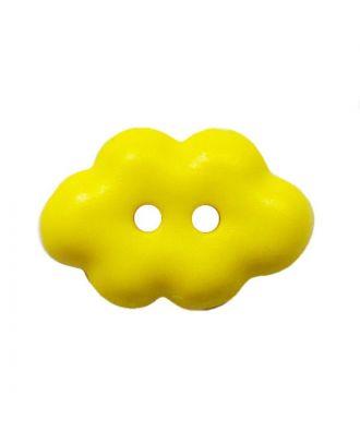 """Kinderknopf """"Wolke"""" Polyamid mit 2 Löchern - Größe:  15mm - Farbe: gelb - ArtNr.: 261461"""