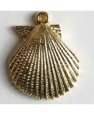 Muschelknopf - Größe: 25mm - Farbe: gold - Art.Nr. 370044