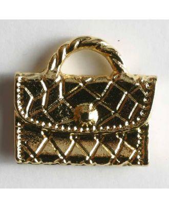Taschenknopf, Kunststoff metallisiert - Größe: 27mm - Farbe: gold - Art.Nr. 370037
